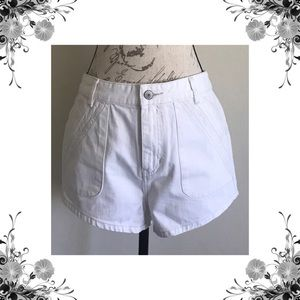 {Free People} 'Sweet Surrender' White Jean Shorts